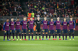 December 5, 2018 - Barcelona, Spain - minute of silence in memory of the former president of Barcelona, Josep Lluis Nunezduring the match between FC Barcelona and Cultural Leonesa, corresponding to the 1/16 final of the spanish King Cuo, played at the Camp Nou Stadium on 05th December 2018 in Barcelona, Spain. Photo: Joan Valls/Urbanandsport /NurPhoto. (Credit Image: © Joan Valls/NurPhoto via ZUMA Press)