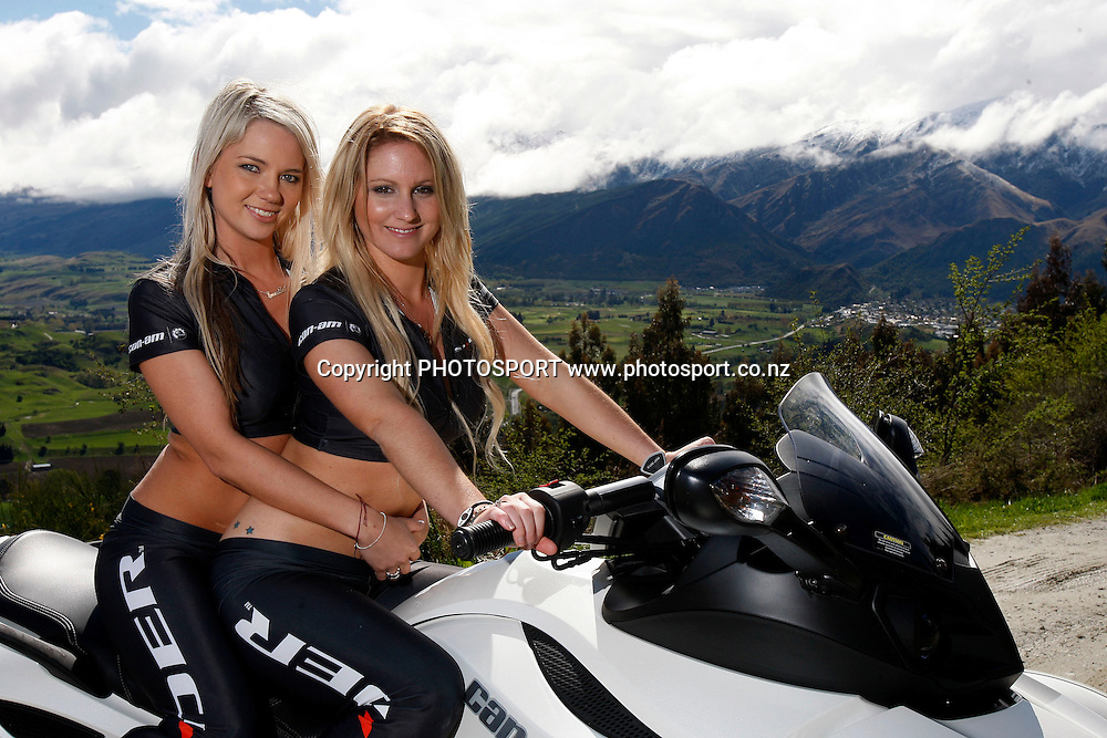 BRP powersports showcase featuring Evinrude outboards, SkiDoo personal watercraft, Spyder motor bikes, Can-Am SSV and ATV vehicles. Queenstown 2010. Photo: William Booth/photosport.co.nz