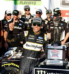 October 14, 2018 - Talladega, AL, U.S. - TALLADEGA, AL - OCTOBER 14: #10: Aric Almirola, Stewart-Haas Racing, Ford Fusion Smithfield Bacon for Life during the runinng of the 1000Bulbs.com500 on Sunday October 14, 2018 at Talladega SuperSpeedway in Talladega Alabama (Photo by Jeff Robinson/Icon Sportswire) (Credit Image: © Jeff Robinson/Icon SMI via ZUMA Press)