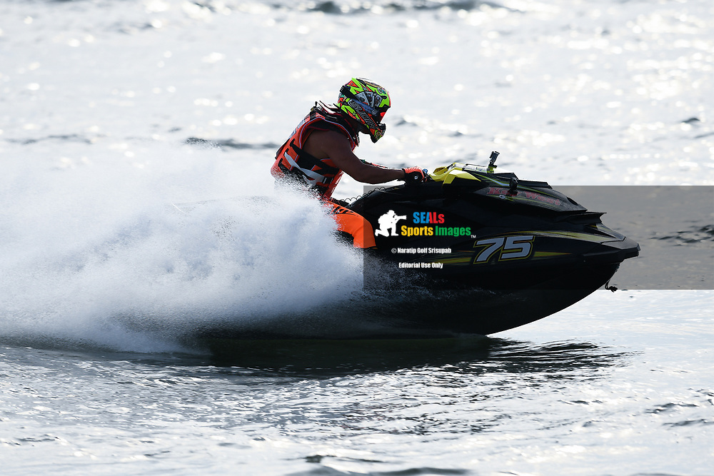 PATTAYA, THAILAND - DECEMBER 09: Hiroki Funato (75) of Japan and Key West in action during the Pro Runabout GP Moto4 at the Thai Airways International Jet Ski World Cup 2018, Jomtien Beach, Pattaya, Thailand on December 09, 2018. <br /> .<br /> .<br /> .<br /> (Photo by: Naratip Golf Srisupab/SEALs Sports Images)<br /> .<br /> Any image use must include a mandatory credit line adjacent to the content which should read: Naratip Golf Srisupab/SEALs Sports Images