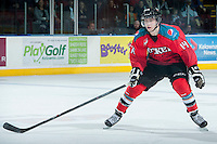 KELOWNA, CANADA - MARCH 15: Rourke Chartier #14 of the Kelowna Rockets skates against the Vancouver Giants on March 15, 2014 at Prospera Place in Kelowna, British Columbia, Canada.   (Photo by Marissa Baecker/Getty Images)  *** Local Caption *** Rourke Chartier;