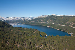 """Donner Lake Aerial 2"" - Photograph of Donner Lake in Truckee, California. Shot from an amphibious seaplane with the door removed."
