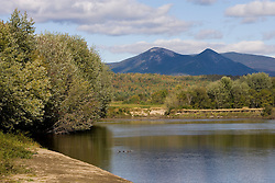 The Percy Peaks as seen from the Connecticut River in Maidstone, Vermont.