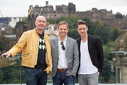 Filth photocall with director Jon S Baird, Irvine Welsh and James McAvoy.<br /> &copy;Michael Schofield.