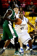 11/23/2006 - Anchorage, Alaska: Sophomore forward Mike Davis-Sabb (45) of the Hofstra Pride plays defense as Hawaii defeats Hofstra 80-79 at the 2006 Great Alaska Shootout on Thanksgiving night<br />