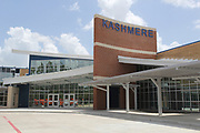 Kashmere High School renovations include a new updated and secure main entrance, an enclosed and enhanced inner courtyard, updated dining facilities and remodeled classrooms. Windows added throughout the facilitiy provide plenty of natural light.