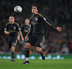 Alberto Aquilani of Liverpool.  Arsenal v Liverpool (2-1), The Carling Cup 4th Round, Emirates Stadium, London, 28th Oct 2009.