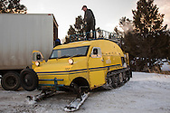 Old Bombardier snow cat, Yellowstone National Park