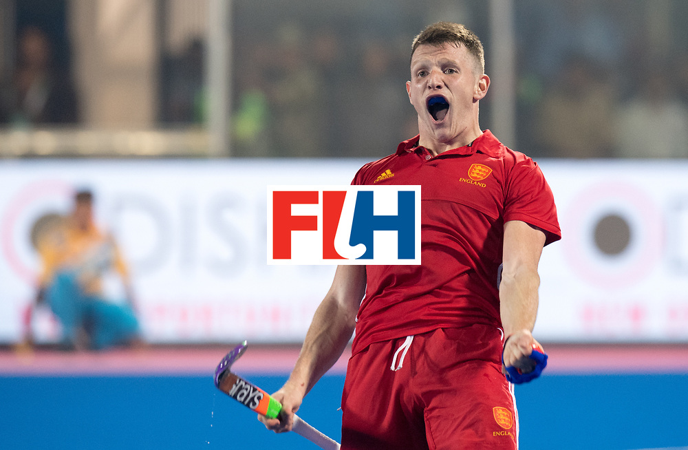 Odisha Men's Hockey World League Final Bhubaneswar 2017<br /> Match id:05<br /> 06 IND v ENG (Pool B)<br /> Foto: Sam Ward (Eng)celebrates his 2-3 goal.<br /> WORLDSPORTPICS COPYRIGHT FRANK UIJLENBROEK