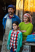 Gypsy, family, Viscri, Romania, blacksmith,