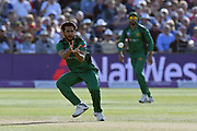 Hasan Ali of Pakistan during the third Royal London One Day International match between England and Pakistan at the Bristol County Ground, Bristol, United Kingdom on 14 May 2019.