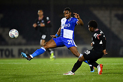Victor Adeboyejo of Bristol Rovers challenges Tariq Lamptey of Chelsea - Mandatory by-line: Ryan Hiscott/JMP - 24/09/2019 - FOOTBALL - Memorial Stadium - Bristol, England - Bristol Rovers v Chelsea - Leasing.com Trophy