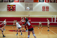 St Paul's Volleyball with Nobles.  ©2105 Karen Bobotas Photographer