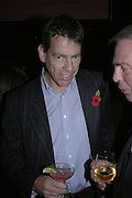 Jeremy Clarke, Drinks party to launch a new Thomas Pink shirt called The Mogul which has a pocket which houses one's cigar. Hostyed by the Spectator and Thomas Pink. Floridita. Wardour St. London. 1 November 2006. -DO NOT ARCHIVE-© Copyright Photograph by Dafydd Jones 66 Stockwell Park Rd. London SW9 0DA Tel 020 7733 0108 www.dafjones.com