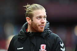 March 16, 2019 - Birmingham, England, United Kingdom - Middlesbrough midfielder Adam Clayton (8) during the Sky Bet Championship match between Aston Villa and Middlesbrough at Villa Park, Birmingham on Saturday 16th March 2019. (Credit Image: © Mi News/NurPhoto via ZUMA Press)