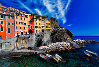 &ldquo;Vibrant colored Southern Mediterranean view of Riomaggiore&rdquo;&hellip;<br />