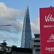 View of The Shard at The Vitality Big Half 2019 on 10 March 2019, London, UK.