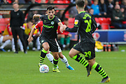 Forest Green Rovers Liam Shephard(2) on the ball during the EFL Sky Bet League 2 match between Salford City and Forest Green Rovers at Moor Lane, Salford, United Kingdom on 28 September 2019.
