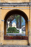 Antigua is a charming world heritage town in Guatemala filled with gorgeous old architecture and cobblestone streets, with a few volcanoes acting as a backdrop.