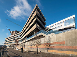 Exterior view of Hafencity University in Hamburg Germany