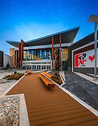 Main entrance & walkway to Tsawwassen Mills Mall