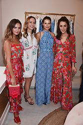 Niomi Smart, Lavinia Brennan, Sarah Ann Macklin and Rosanna Falconer at the launch of the Beulah Flagship store, 77 Elizabeth Street, London England. 16 May 2018.
