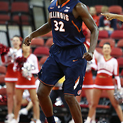 Nnanna Egwu #32 of the Illinois Fighting Illini is seen during the NIT First Round game at Agganis Arena on March 19, 2014 in Boston, Massachusetts . (Photo by Elan Kawesch)