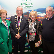 10.10. 2017.          <br /> Pictured at the Limerick Going for Gold 2017 finals in the Strand Hotel were, Mayor of the City and County of Limerick Cllr Stephen Keary with Phil McGuiness, Feenagh Tidy Towns and Ita and John Carroll, Castlemahon.<br /> <br /> <br /> Limerick Going for Gold, which is sponsored by the JP McManus Charitable Foundation, has a total prize pool of over €75,000.  It is organised by Limerick City and County Council and supported by Limerick's Live 95FM, The Limerick Leader and The Limerick Chronicle, The Limerick Post, Parkway Shopping Centre, I Love Limerick and Southern Marketing Media & Design. Picture: Alan Place