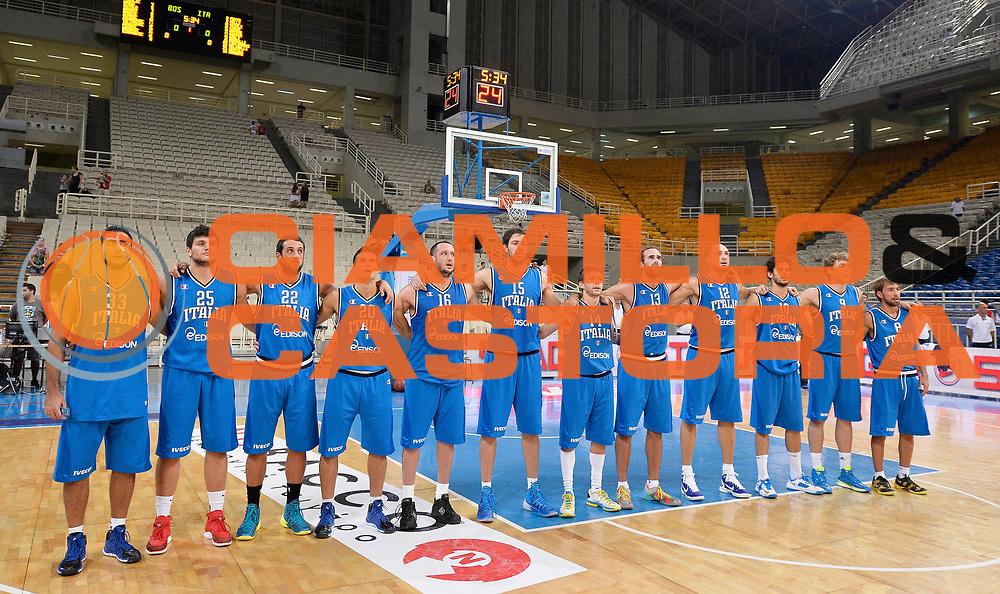 DESCRIZIONE : Atene Akropolis Cup Italia Bosnia Erzegovina Italy Bosnia Herzegovina<br /> GIOCATORE : team italia<br /> CATEGORIA : pregame<br /> SQUADRA : Nazionale Italia Maschile Uomini<br /> EVENTO : Atene Akropolis Cup<br /> GARA : Italia Bosnia Erzegovina Italy Bosnia Herzegovina<br /> DATA : 28/08/2013<br /> SPORT : Pallacanestro<br /> AUTORE : Agenzia Ciamillo-Castoria/R.Morgano<br /> Galleria : FIP Nazionali 2013<br /> Fotonotizia : Atene Akropolis Cup Italia Bosnia Erzegovina Italy Bosnia Herzegovina<br /> Predefinita :