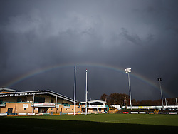 A rainbow over Castle Park after the game - Mandatory byline: Rogan Thomson/JMP - 27/03/2016 - RUGBY UNION - Castle Park - Doncaster, England - Doncaster Knights v Bristol Rugby - Greene King IPA Championship.