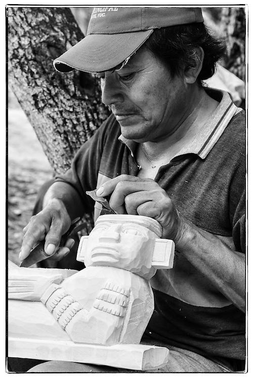 Sculptor, Chichen Iza, Mexico