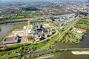 Nederland, Noord-Holland, Amsterdam, 09-04-2014; Watergraafsmeer met overzicht Amsterdam Science Park. Linksboven de Carolina MacGillavrylaan en het NS emplacement met Kruislaan.<br /> Amsterdam Science Park in East of Amsterdam<br /> luchtfoto (toeslag op standard tarieven);<br /> aerial photo (additional fee required);<br /> copyright foto/photo Siebe Swart