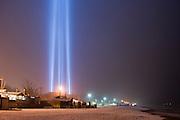 Lights in the night sky