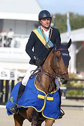 Doem Arnaud, BEL, Edgar de Prefontaine<br /> Final Belgium Championships<br /> Zangersheide FEI World Cup Breeding Jumping<br /> © Dirk Caremans<br /> 15/09/18