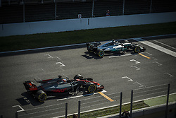 March 10, 2017 - Montmelo, Catalonia, Spain - VALTTERI BOTTAS (FIN) of team Mercedes and ROMAIN GROSJEAN (FRA) of team Haas practice the start on track during day 8 of Formula One testing at Circuit de Catalunya (Credit Image: © Matthias Oesterle via ZUMA Wire)
