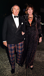 MR & MRS JACKIE STEWART, he is the former world champion racing driver, at a ball in West Sussex on 18th September 1999.MWL 22