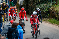 Leading group during the UCI WorldTour 103rd Liège-Bastogne-Liège from Liège to Ans with 258 km of racing at Cote de Pont, Belgium, 23 April 2017. Photo by Pim Nijland / PelotonPhotos.com | All photos usage must carry mandatory copyright credit (Peloton Photos | Pim Nijland)