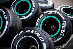 February 26, 2019 - Barcelona, Barcelona, Spain - Pirelli tyres during the Formula 1 2019 Pre-Season Tests at Circuit de Barcelona - Catalunya in Montmelo, Spain on February 26. (Credit Image: © AFP7 via ZUMA Wire)