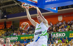 Gasper Vidmar of Slovenia during friendly match between National teams of Slovenia and Turkey for Eurobasket 2013 on August 4, 2013 in Arena Zlatorog, Celje, Slovenia. (Photo by Vid Ponikvar / Sportida.com)