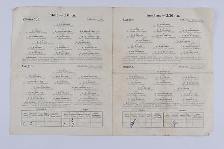Interprovincial Railway Cup Football Cup Final,  17.03.1954, 03.17.1954, 17th March 1954, referee A Mac Giolla Cearr, Connacht 1-05, Leinster 1-07, Football Team Connacht, A Brady, P English, P Prendergast, S Flanagan, B Lynch, T Dillon, Lt F Kelly, G O'Malley, J Nallen, I O'Dowd, S Purcell, E O'Donohoe, T Hayden, T Langan, P McGarrity, J McAndrew, J Mangan, P Irwin, F Gaffney, P Stockwell,  Football Team Leinster, J O'Neill, M O'Brien, P O'Brien, K McConnell, G O'Reilly, P Dunne, A Murphy, J Rogers, S White, J O'Reilly, O Freaney, C O'Leary, P Meegan, J McDonnell, K Heffernan, T Malone, D O'Mahoney, J Morris, T Conlan,P Casey, .Interprovincial Railway Cup Hurling Cup Final,  17.03.1954, 03.17.1954, 17th March 1954, referee M S O Flairbeartaig, Leinster 0-09, Munster 0-05, Hurling Team Leinster, K Matthews, J Hogan, P Hayden, M Hanlon, P Buggy, E Wheeler, J McGovern, N Allen, J Sutton, M Ryan, R Carroll, T Flood, J Langton, P Fitzgerald, M Kelly, P Lillis, J Prior, W Rackard, N Rackard, J Morrissey,  Hurling Team Munster, A Redlan, J O'Riordan, J Lyons, J Doyle, S Finn, P Stakelum, M Fuohy, J Hough, J Kiely, W J Daly, J Hartnett, S Bannon, J Smith, D McCarthy, C Ring, A O'Shaugnessy, M Byrne, M Nugent, J O'Connor, T Moroney,