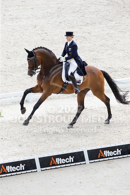 Kristy Oatley, (AUS), Ronan 2 - Grand Prix Team Competition Dressage - Alltech FEI World Equestrian Games&trade; 2014 - Normandy, France.<br /> &copy; Hippo Foto Team - Leanjo de Koster<br /> 25/06/14