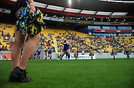 Highlanders captain Jamie McIntosh leads his team out. Super 15 rugby match - Hurricanes v Highlanders at Westpac Stadium, Wellington, New Zealand on Friday, 18 February 2011. Photo: Dave Lintott/PHOTOSPORT