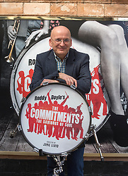 Roddy Doyle's The Commitments on stage for the first time at the Palace theatre, Shaftesbury Avenue. (In the picture) Author Roddy Doyle plays trumpet as Director Jamie Lloyd plays the drums, London, UK, Tuesday, 23rd April 2013. Photo by: Gavin Rodgers / i-Images