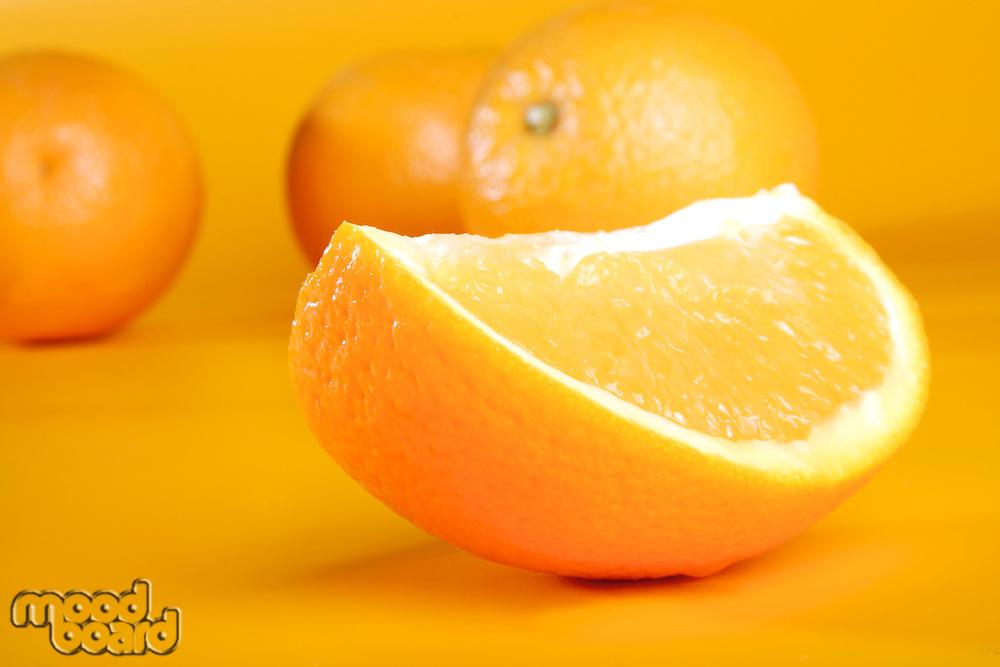 Close-up of orange - studio shot
