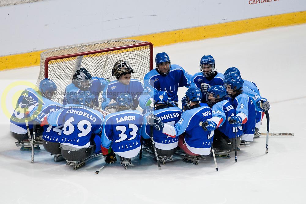 ITA v KOR during the 2013 World Para Ice Hockey Qualifiers for Sochi, Torino, Italy