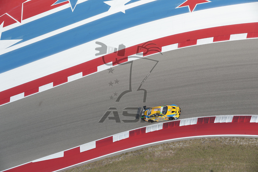 Austin, TX - Sep 15, 2016:  The Turner Motorsport BMW M6 GT3 races through the turns at the Lone Star Le Mans at Circuit of the Americas in Austin, TX.