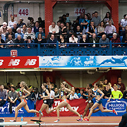 February 15, 2014 - New York, NY : <br /> Athletes including Mary Cain, second from left, compete in the NYRR Women's Wanamaker Mile (ELITE) during the 2014 NYRR Millrose Games at the The New Balance Track & Field Center at The Armory in Washington Heights, Manhattan, on Saturday afternoon. Cain finished first. <br /> CREDIT: Karsten Moran for The New York Times