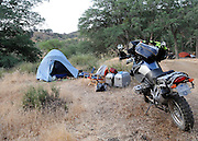 Motorcyle camping with BMW R1200GS at 2009 Rawhyde Adventure Rider Challenge competition.