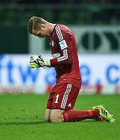 Fussball  1. Bundesliga  Saison 2014/2015   5. SPIELTAG SV Werder Bremen - FC Schalke 04     23.09.2014 Torwart Ralf Faehrmann (FC Schalke 04) emotional