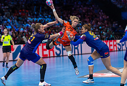 16-12-2018 FRA: Women European Handball Championships bronze medal match, Paris<br /> Romania - Netherlands 20-24, Netherlands takes the bronze medal / Estavana Polman #79 of Netherlands, Crina-Elena Pintea #21 of Romania, Ana-Maria Dragut #90 of Romania